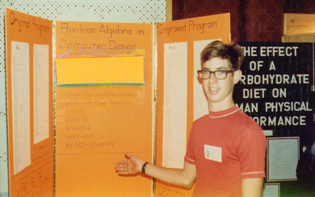 Donor 16 years old, showing science fair project